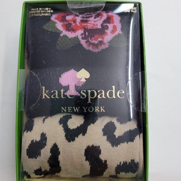 Kate Spade 3 Pack Socks Floral Spade OS Multi